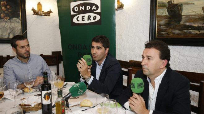 Haro y Catalán, con Julio Jiménez, director de comunicación