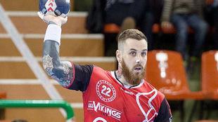Léo Renaud durante un partido con 'Les Vikings' en la...