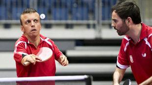 Alberto Seoane y Álvaro Valera en el Mundial de Bratislava.