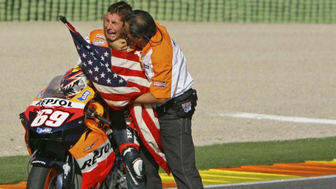 Hayden, en Valencia 2006.