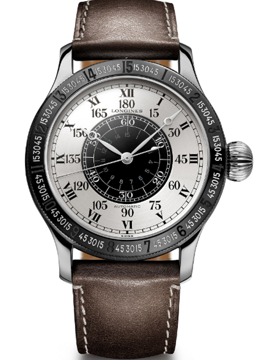 49fb43fbfcf1 90th Anniversary Presenta Watch El Hour Longines Angle Lindbergh QtrCshd
