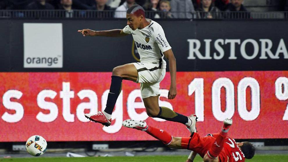Mbappé, en una imagen del último partido de la Liga francesa