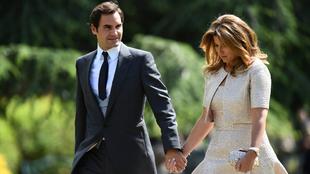 El tenista Roger Federer y su esposa Mirka fueron a la boda de Pippa...