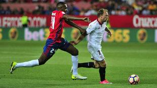 Krohn-Dehli se escapa de Loe en el Sevilla-Osasuna de la última...