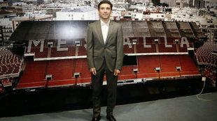 Marcelino García Toral antes de su presentación en Mestalla.