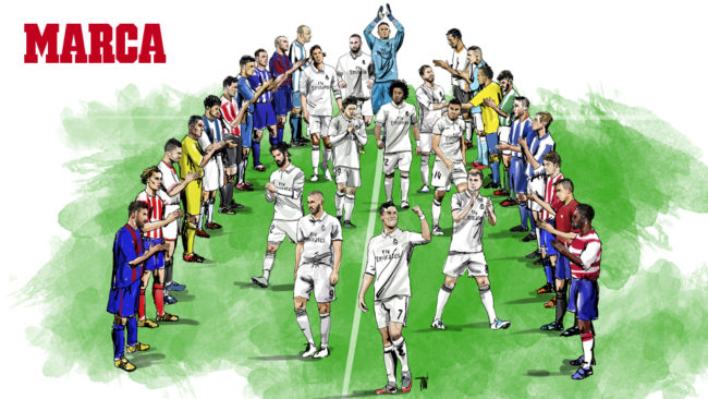 Real madrid camp on de liga santander 2016 17 for El marca del madrid