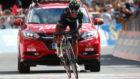 Nairo Quintana entrando en la meta de la etapa reina.