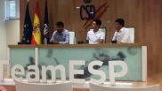 Alfonso Cabello junto a Óscar Pereiro y Carlos Sastre.