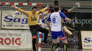 Vicente Álamo y Álvaro Ferrer, durante su último partido en el...