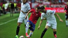 Berenguer durante un partido ante el Sevilla.