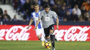 Juanfran con el Deportivo