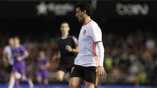 Dani Parejo, durante un partido de esta temporada en Mestalla-