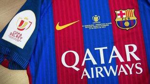La camiseta del Barcelona para la final de Copa