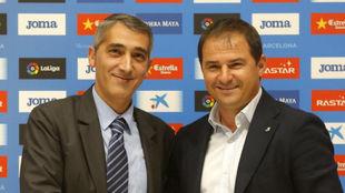 Ramón Robert y Jordi Lardín el día de la presentación de este...