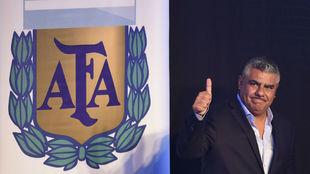 Claudio Tapia (49), presidente de la AFA.