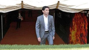 Marcelino, el día de su presentación en Mestalla.
