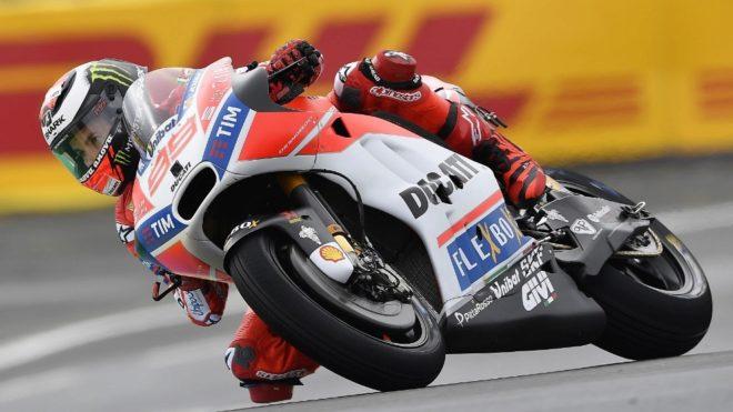 Lorenzo, sobre la GP17.
