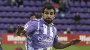 Álex López jugando un partido frente al Levante con el Real...