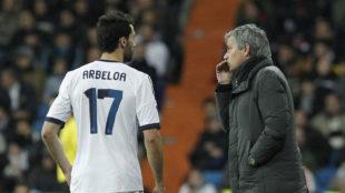 Arbeloa y Mourinho, en una fotografía de 2013