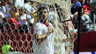 Vicente Iborra, en el partido contra el Sporting en el Sánchez...