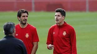 Héctor Yuste, durante un entrenamiento del Mallorca de hace tiempo...