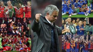 Mourinho y los 6 equipos que han ganado todos los t�tulos...