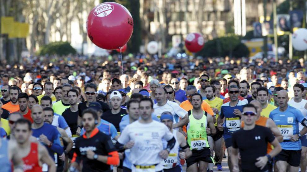 Atletas populares en el Medio Maratón de Madrid
