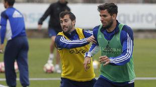 Cabrera se ejercita junto a Lanzarote.