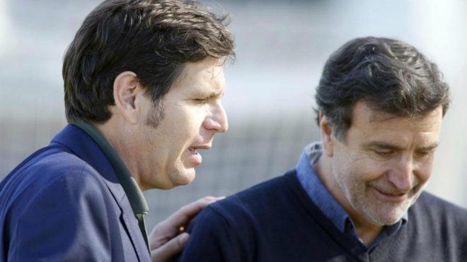 Alemany y Alesanco en la Ciudad Deportiva del Valencia.