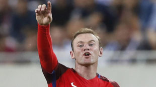 Rooney, con Inglaterra.