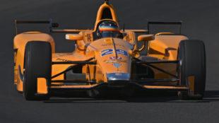 Alonso, en el Indianapolis Motor Speedway.