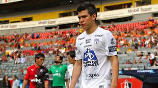 Hirving Lozano, en un partido con Pachuca.