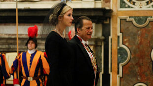 Ivanka Trump, en su visita a Roma.