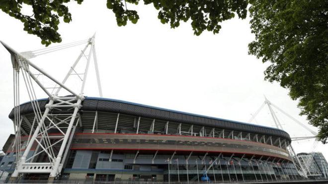 El estadio de la final de la Champions, visto desde fuera.