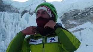 Ferrán Latorre, en el Everest.