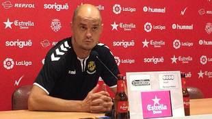 Nano Rivas, durante la rueda de prensa previa a su debut en el...
