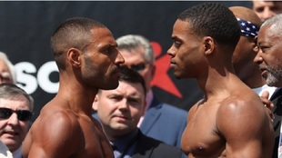 Kell Brook y Errol Spence Jr., tras el pesaje