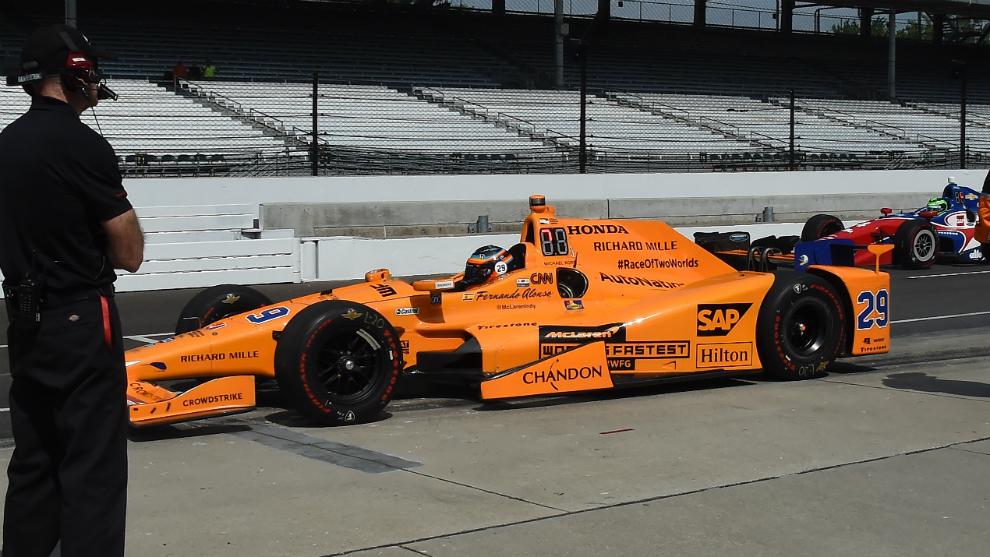 Alonso, en el 'Carb Day'.