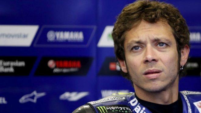 Rossi, en su box.
