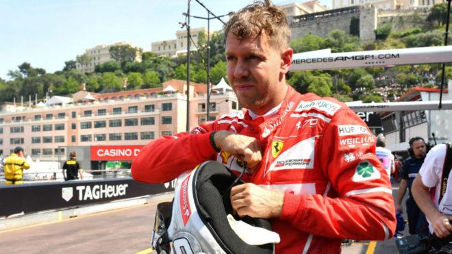 Vettel, en Mónaco.