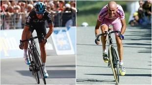 Mikel Landa y Marco Pantani.