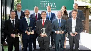 De izquierda a derecha. Fila superior: Óscar Oñate (Jaguar), Germán...