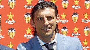 Miguel Ángel Angulo, ojeador del Valencia, en una imagen de archivo .