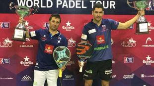 Matías Díaz y Maxi Sánchez, tras ganar el Open de Mendoza, en...