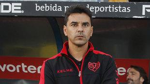 Míchel durante un partido de Liga ante el Alcorcón