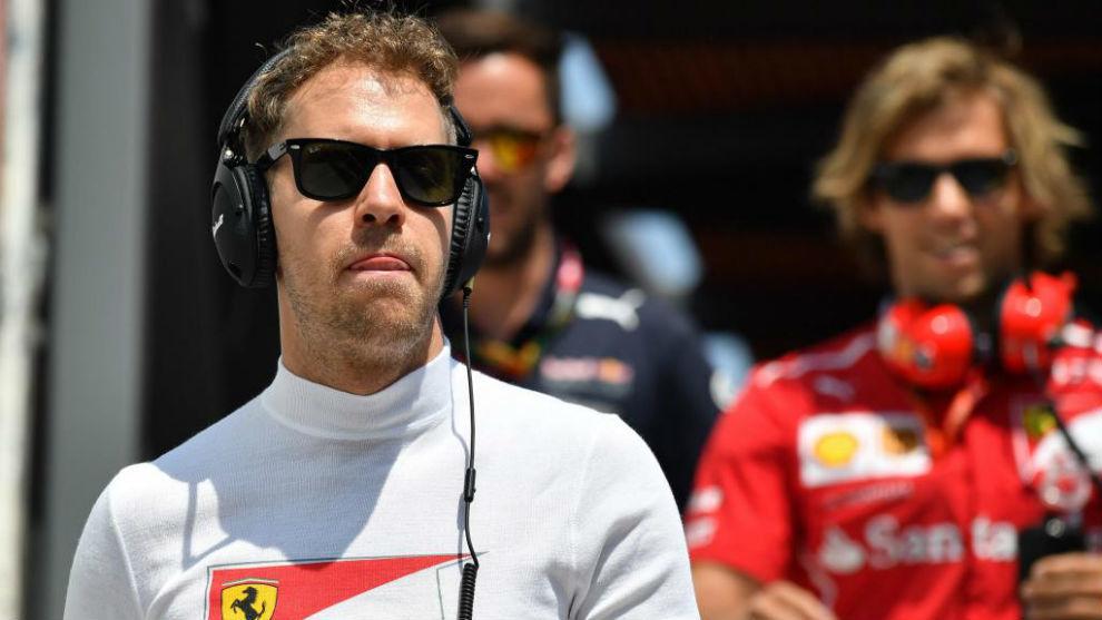 Sebastian Vettel después de la calificación del GP d Mónaco