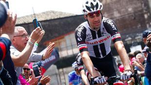 Tom Dumoulin en el Giro de Italia.