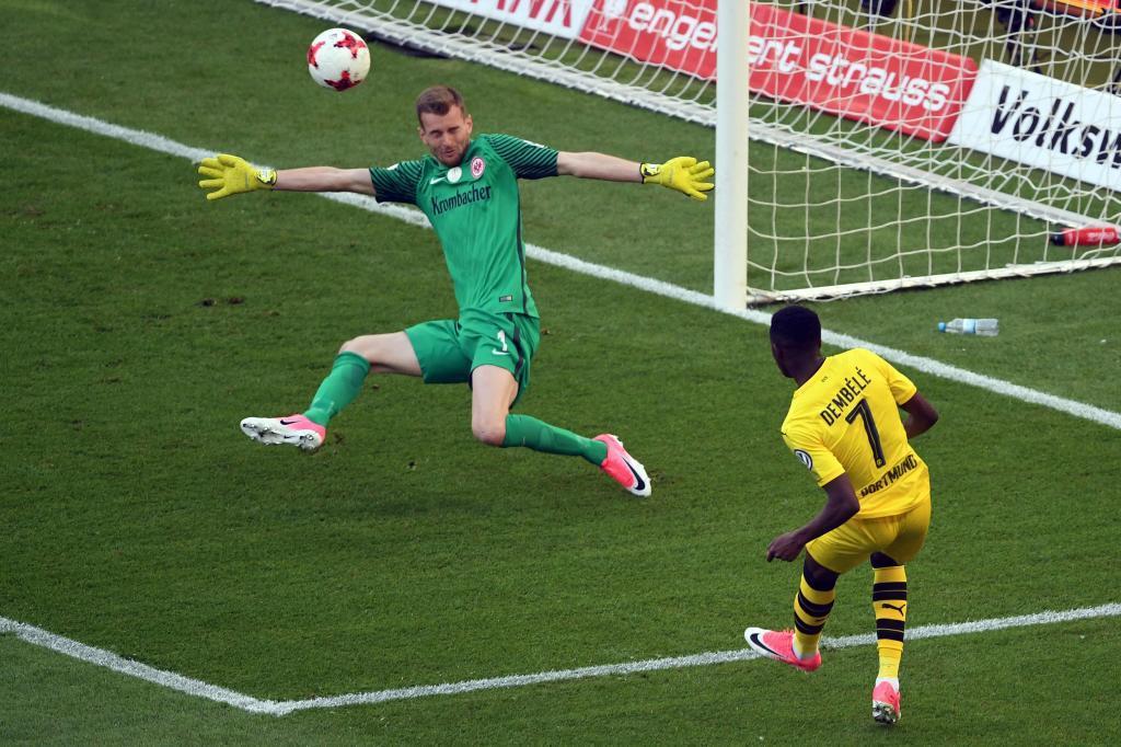 Así marcó Dembélé el 0-1.