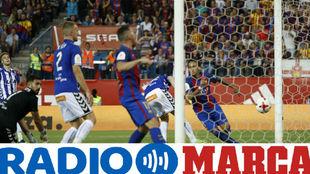El Fútbol Club Barcelona celebra el gol de Neymar