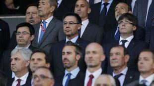 Bartomeu durante la final de la Copa del Rey.